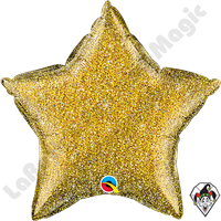 20 Inch Star Glittergraphic Gold Foil Balloon Qualatex 1ct