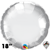 Qualatex 18 Inch Round Chrome Silver Foil Balloon 1ct