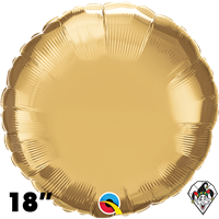 Qualatex 18 Inch Round Chrome Gold Foil Balloon 1ct