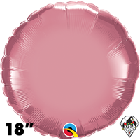 Qualatex 18 Inch Round Chrome Mauve Foil Balloon 1ct