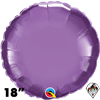 Qualatex 18 Inch Round Chrome Purple Foil Balloon 1ct
