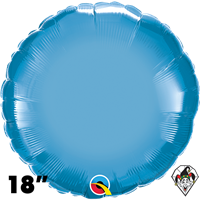 Qualatex 18 Inch Round Chrome Blue Foil Balloon 1ct