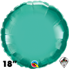 Qualatex 18 Inch Round Chrome Green Foil Balloon 1ct