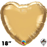 Qualatex 18 Inch Heart Chrome Gold Foil Balloon 1ct