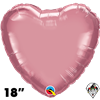 Qualatex 18 Inch Heart Chrome Mauve Foil Balloon 1ct