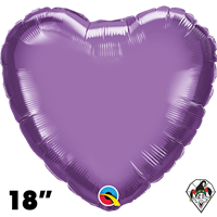 Qualatex 18 Inch Heart Chrome Purple Foil Balloon 1ct