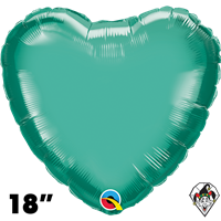 Qualatex 18 Inch Heart Chrome Green Foil Balloon 1ct