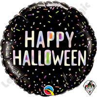 18 Inch Round Halloween Sprinkles Foil Balloon Qualatex 1ct