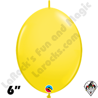 Qualatex 6 inch Quick Link Standard Yellow Balloons 50t