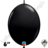 Qualatex 6 inch Quick Link Fashion Onyx Black Balloons 50ct