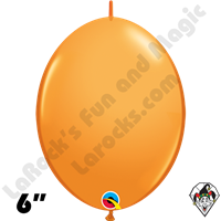 Qualatex 6 inch Quick Link Standard Orange Balloons 50ct