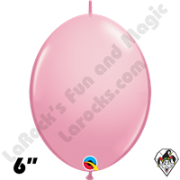Qualatex 6 inch Quick Link Standard Pink Balloons 50ct