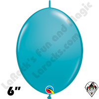 6 Inch Quick Link Fashion Tropical Teal Balloons Qualatex 50ct