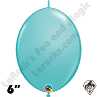 Qualatex 6 inch Quick Link Fashion Caribbean Blue Balloons 50ct
