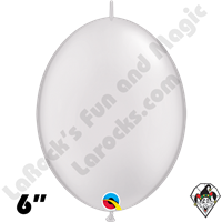 Qualatex 6 inch Quick Link Pearl White Balloons 50ct