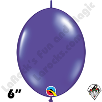 Qualatex 6 inch Quick Link Jewel Quartz Purple Balloons 50ct