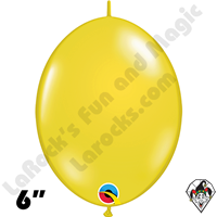 Qualatex 6 inch Quick Link Jewel Citrine Yellow Balloons 50ct