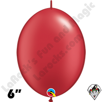 6 Inch Quick Link Pearl Ruby Red Balloons Qualatex 50ct
