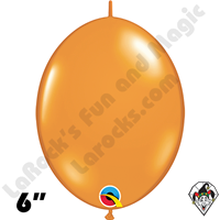 6 Inch Quick Link Jewel Mandarin Orange Balloons Qualatex 50ct