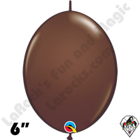 Qualatex 6 inch Quick Link Fashion Chocolate Brown Balloons 50ct
