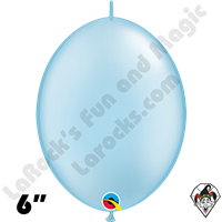 Qualatex 6 inch Quick Link Pearl Light Blue Balloons 50ct