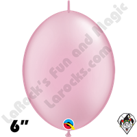 Qualatex 6 inch Quick Link Pearl Pink Balloons 50ct