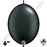 Qualatex 6 inch Quick Link Pearl Onyx Black Balloons 50ct