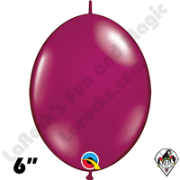 Qualatex 6 inch Quick Link Jewel Sparkling Burgundy Balloons 50ct