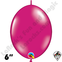 Qualatex 6 inch Quick Link Jewel Magenta Balloons 50ct