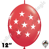 12 Inch Quick Link Big Stars Red Balloon Qualatex