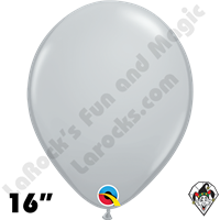 Qualatex 16 Inch Round Fashion Gray Balloons 50ct