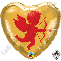 18 Inch Heart Cupid Foil Balloon Qualatex 1ct
