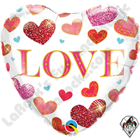 18 Inch Heart Love Jewel Hearts Foil Balloon Qualatex 1ct