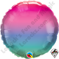 18 Inch Round Jewel Ombre Foil Balloon Qualatex 1ct