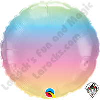 18 Inch Round Pastel Ombre Foil Balloon Qualatex 1ct
