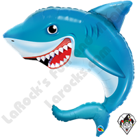 36 Inch Shape Smilin' Shark Foil Balloon Qualatex 1ct