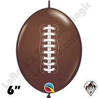 6 Inch Quick Link Football Chocolate Brown Qualatex 50ct