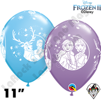 11 Inch Round Disney Frozen 2 Qualatex 25ct