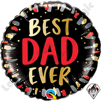18 Inch Round Best Dad Ever Foil Balloon Qualatex 1ct