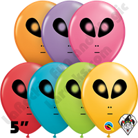 Qualatex 5 Inch Round Alien Festive Assortment Balloons 100ct