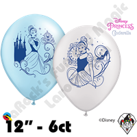 Qualatex Party Pack 11 Inch Round Disney Cinderella 6ct