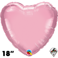 Qualatex 18 Inch Heart Pearl Pink Foil Balloon 1ct
