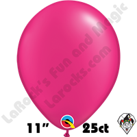 Qualatex 11 Inch Round Pearl Magenta Balloons 25ct