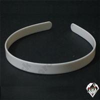 Hair Bands 5/8 White 10pc