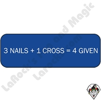 Stickers & Stuff | Pins & Buttons | 3 Nails + 1 Cross=4 Given pins