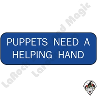 Puppets | All Puppets | Puppets Need A Helping Hand Pin