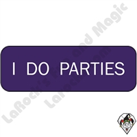 Stickers & Stuff | Pins & Buttons | I Do Parties  pin