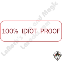 Stickers & Stuff | Pins & Buttons | 100% Idiot Proof pin
