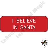 I Believe in Santa Pin