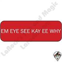 Stickers & Stuff | Pins & Buttons | Em Eye See Kay EE Why Pin